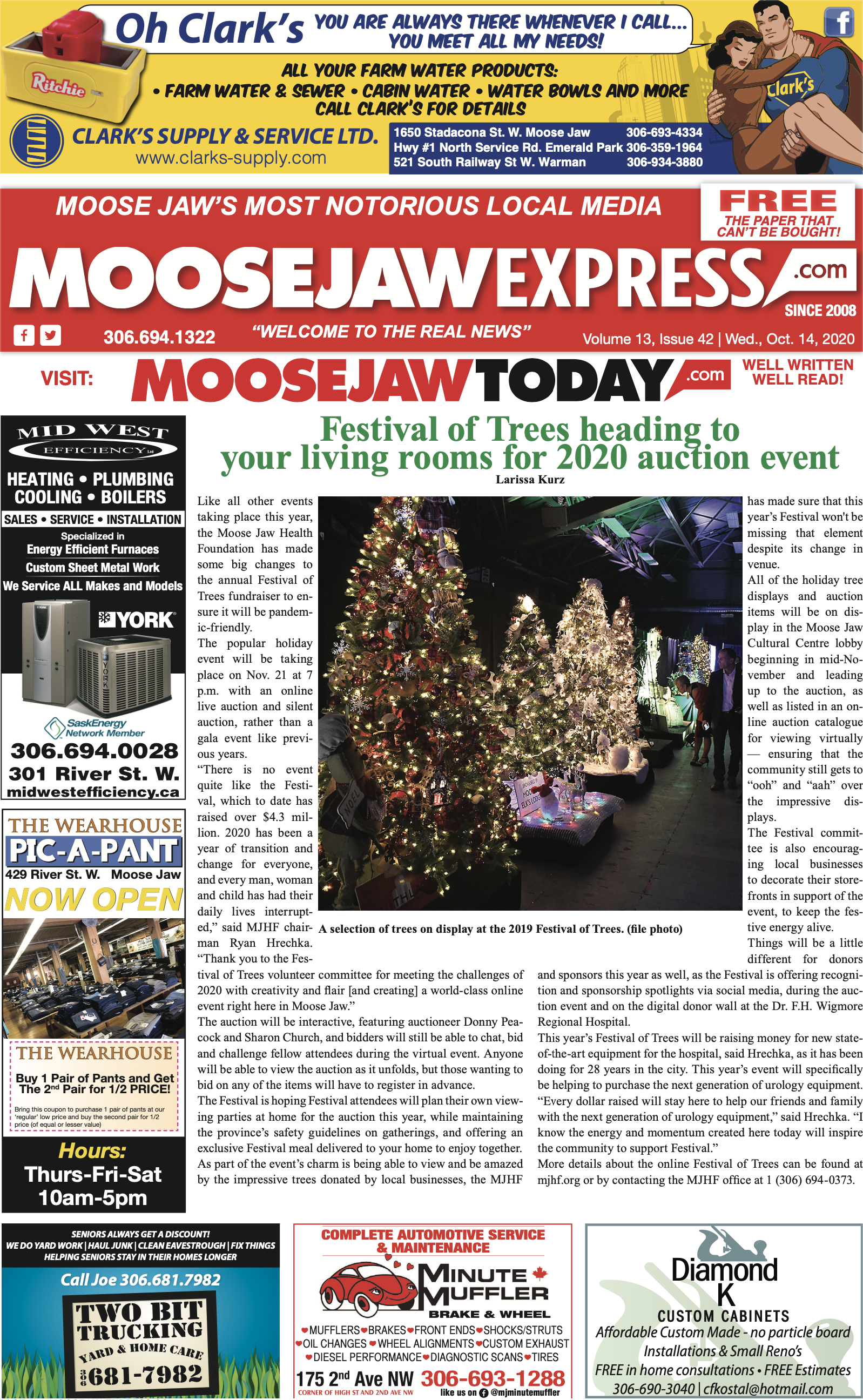 October 14th, 2020 Edition of Moose Jaw Express